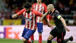 Diego Costa Jack Wilshere Atletico Madrid Arsenal Europa League