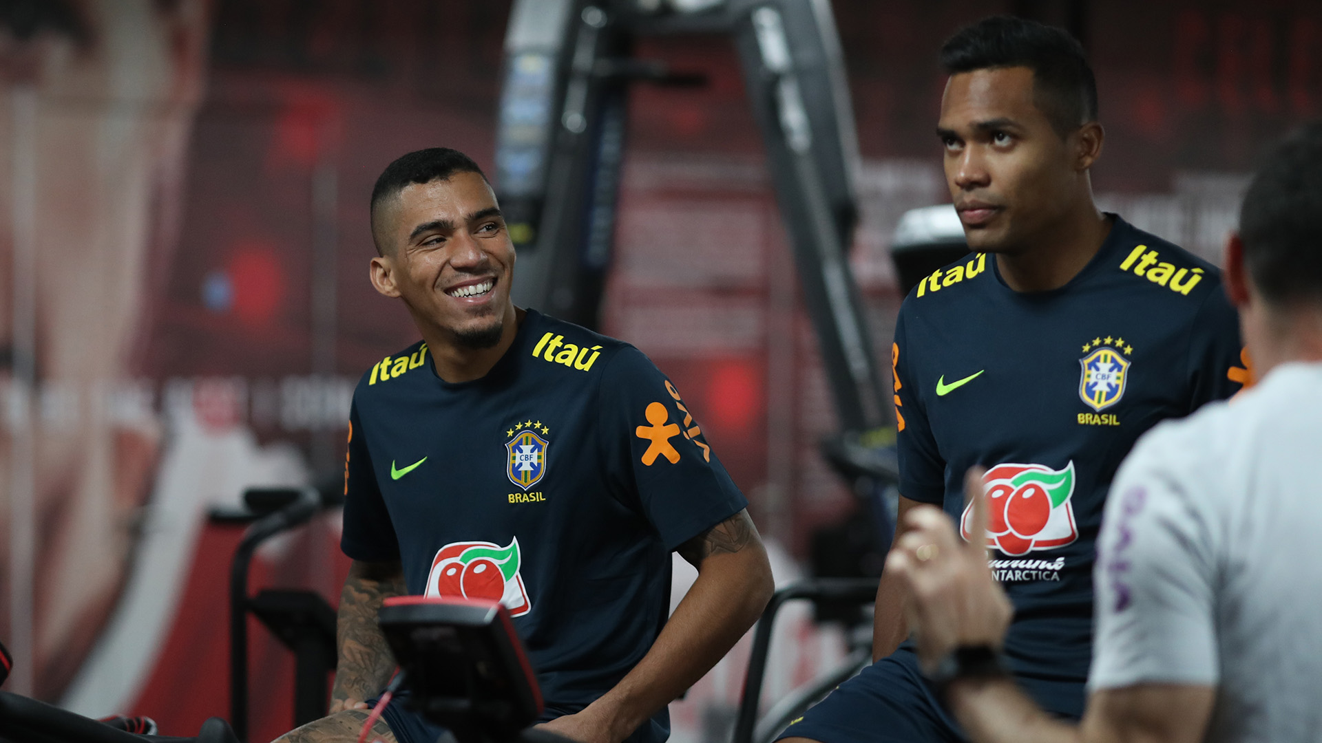 Allan Alex Sandro Brazil training 12112018