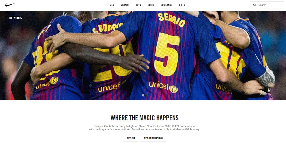 Embed only: Barcelona - Coutinho Nike leak