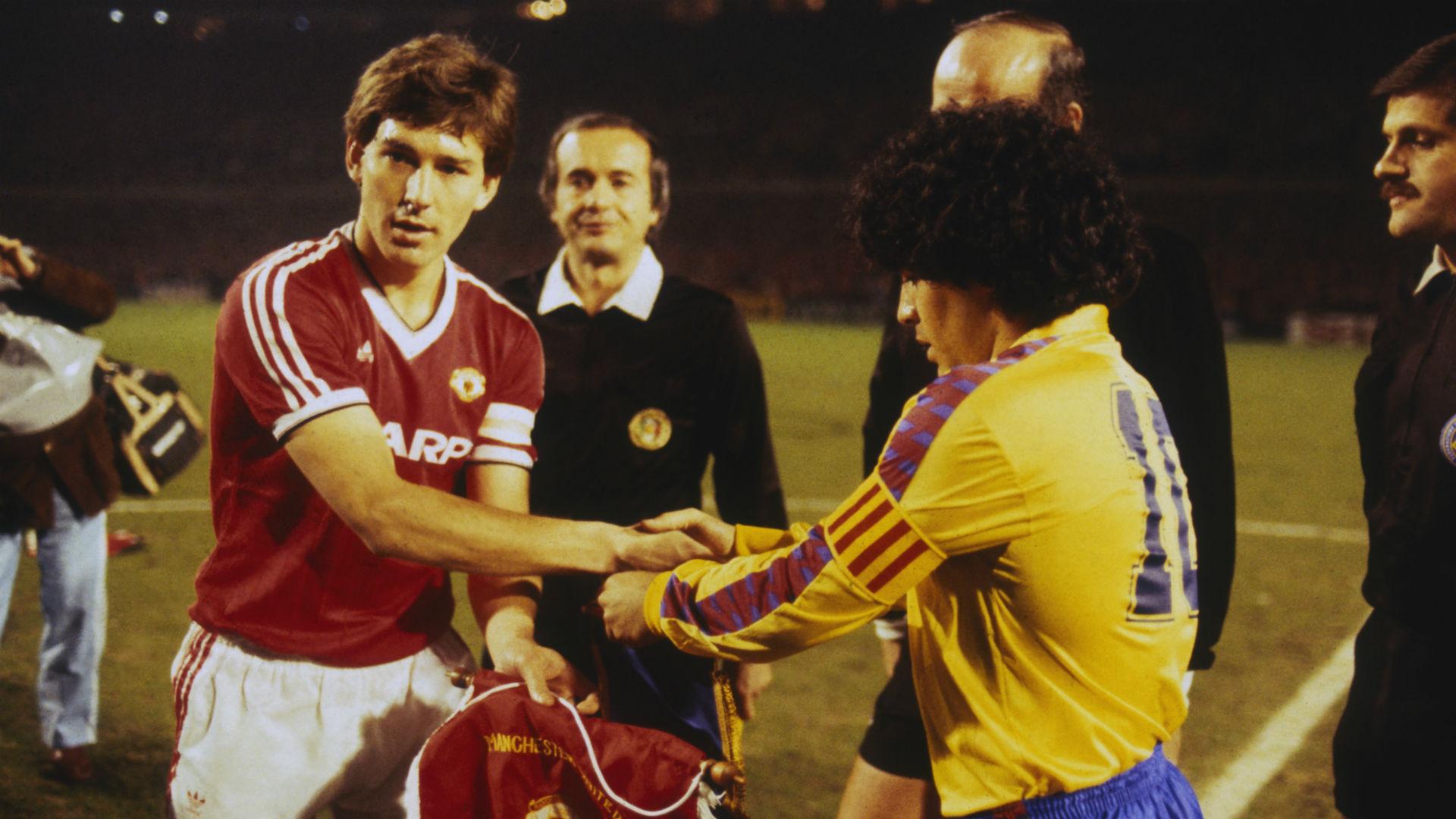Bryan Robson Manchester United Diego Maradona Barcelona