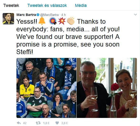 Marc Bartra twitter Steffi
