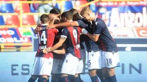 Bologna celebrates, Serie A, 15102017