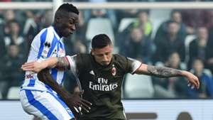 Gianluca Lapadula Mamadou Coulibaly Pescara Milan Serie A 03022017