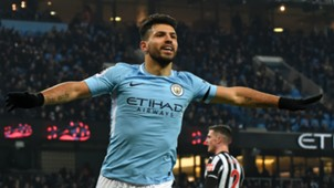 SERGIO AGUERO MANCHESTER CITY PREMIER LEAGUE 20012018