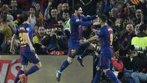Lionel Messi Luis Suarez Sergi Roberto Barcelona