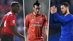 Paul Pogba, Gareth Bale, Eden Hazard
