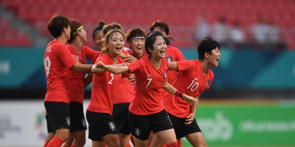 Image result for เกาหลีใต้อัดไต้หวัน 4-0 คว้าทองแดงฟุตบอลหญิงเอเชียนเกมส์