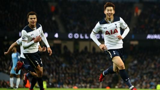 Son Heung-min Premier League Manchester City v Tottenham