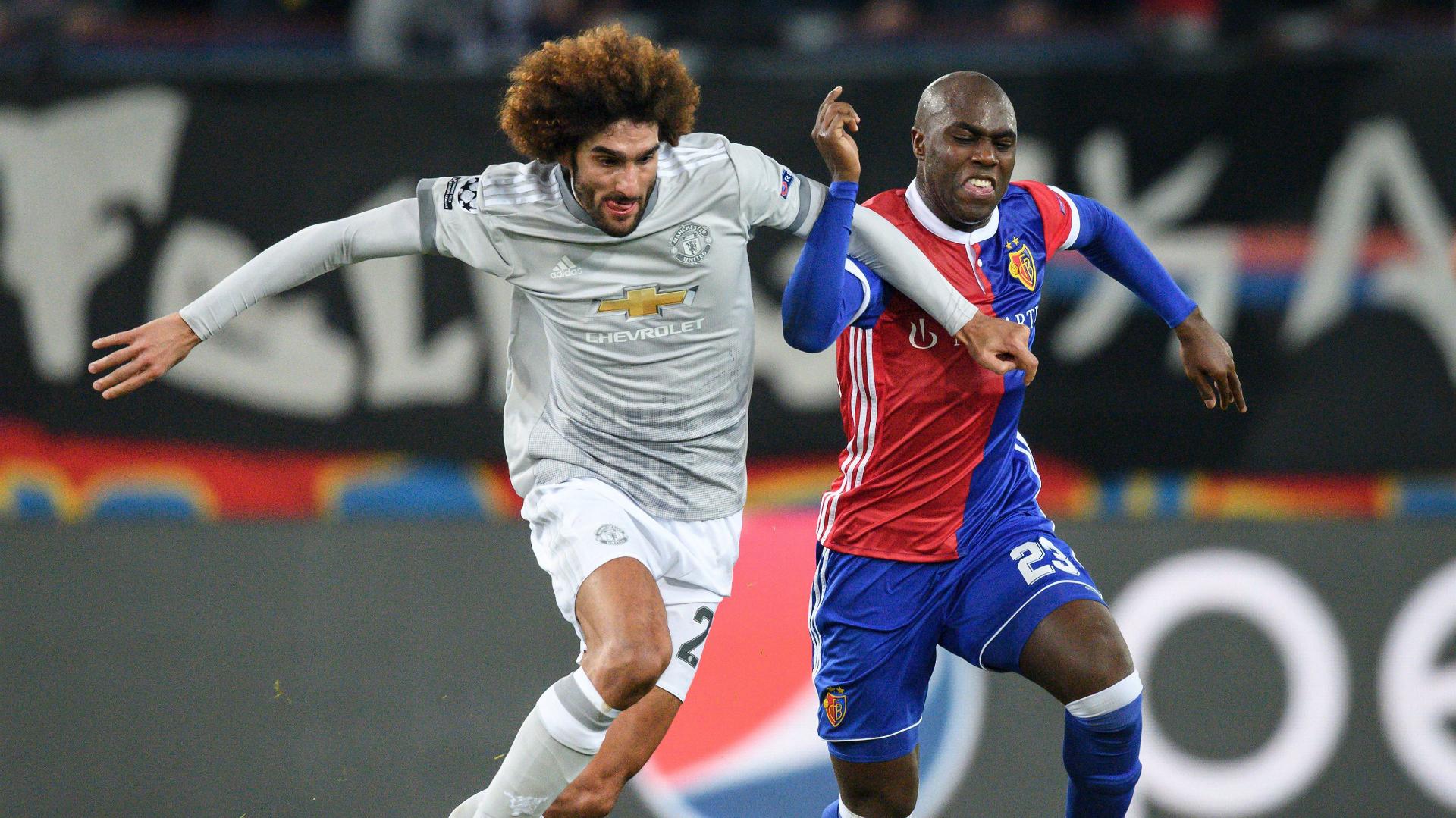 Marouane Fellaini Eder Balanta Manchester United Basel