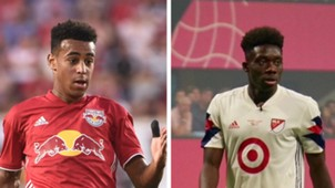 Tyler Adams Alphonso Davies MlS U21 Best XI Collage