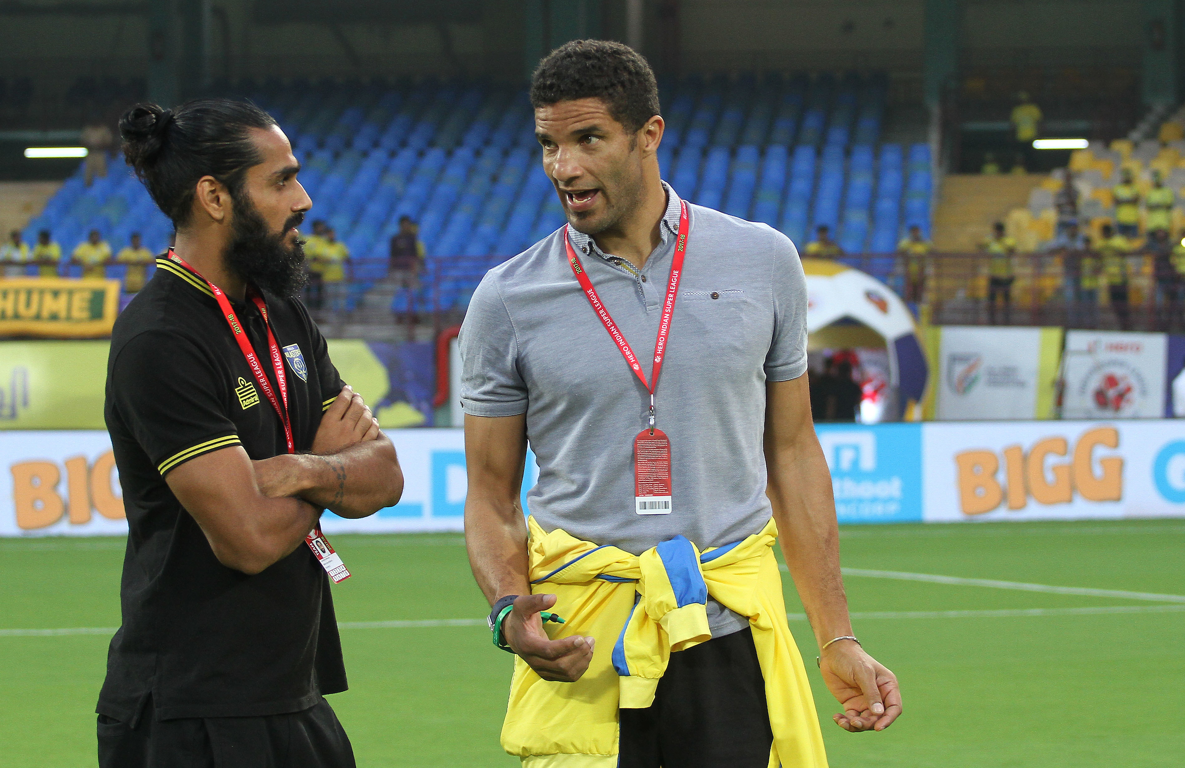 Sandesh Jhingan David James Kerala Blasters 2017-18 Indian Super League
