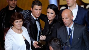 Cristiano Ronaldo and his sister 13012014