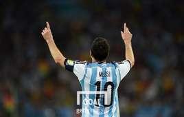아르헨티나 축구 국가대표팀에서 등번호 10번을 달고 있는 메시. 사진=게티이미지