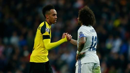 Pierre-Emerick Aubameyang Marcelo Borussia Dortmund Real Madrid 07122016
