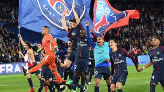 PSG Ligue 1 champions celebration 15042018