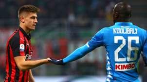 Krzysztof Piatek Kalidou Koulibaly Milan Napoli Serie A