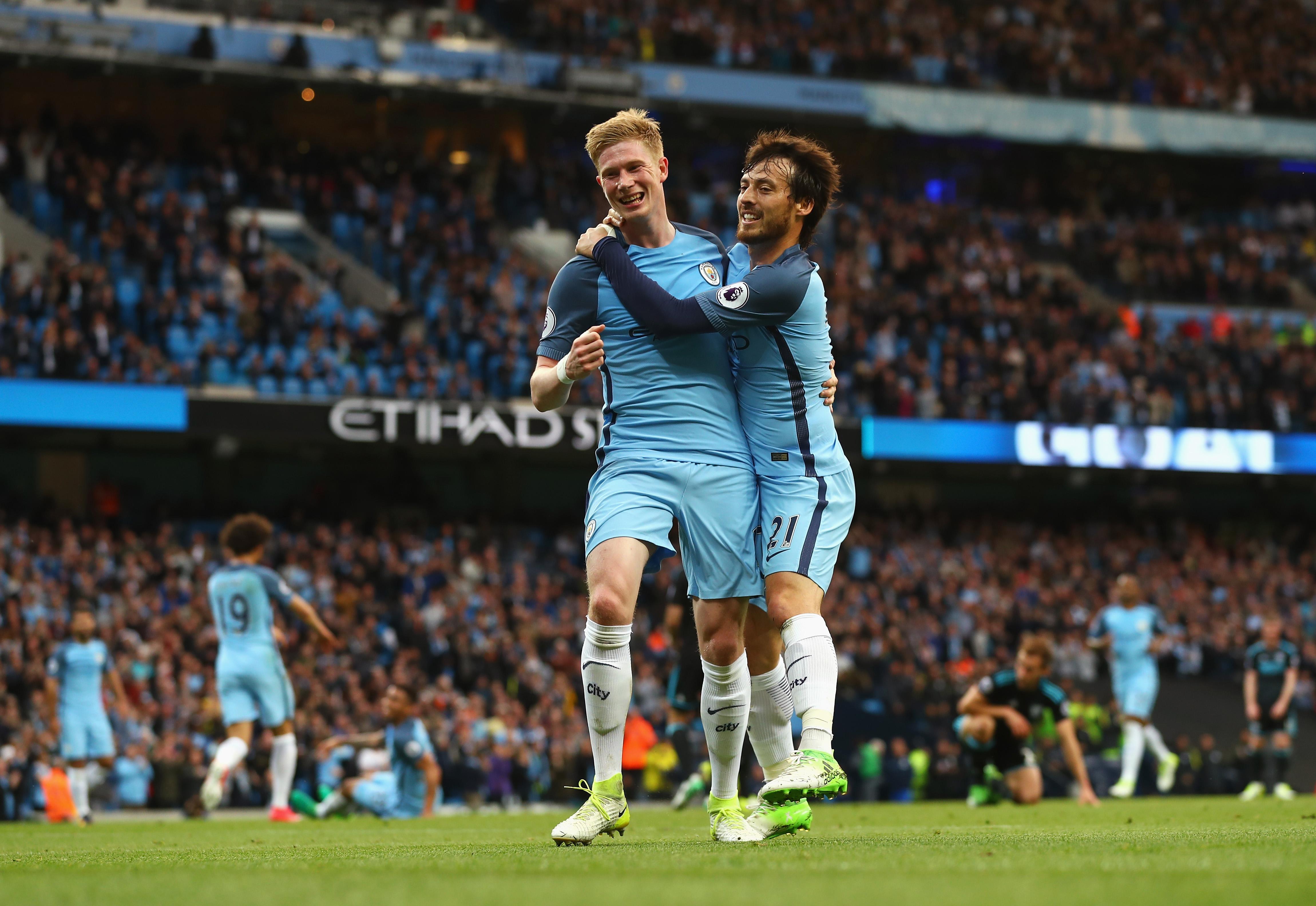 Kevin de Bruyne David Silva Manchester City