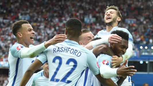 England celebrate Wales Euro 2016