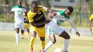 John Kamau of Tusker and David Owino of Mathare United.