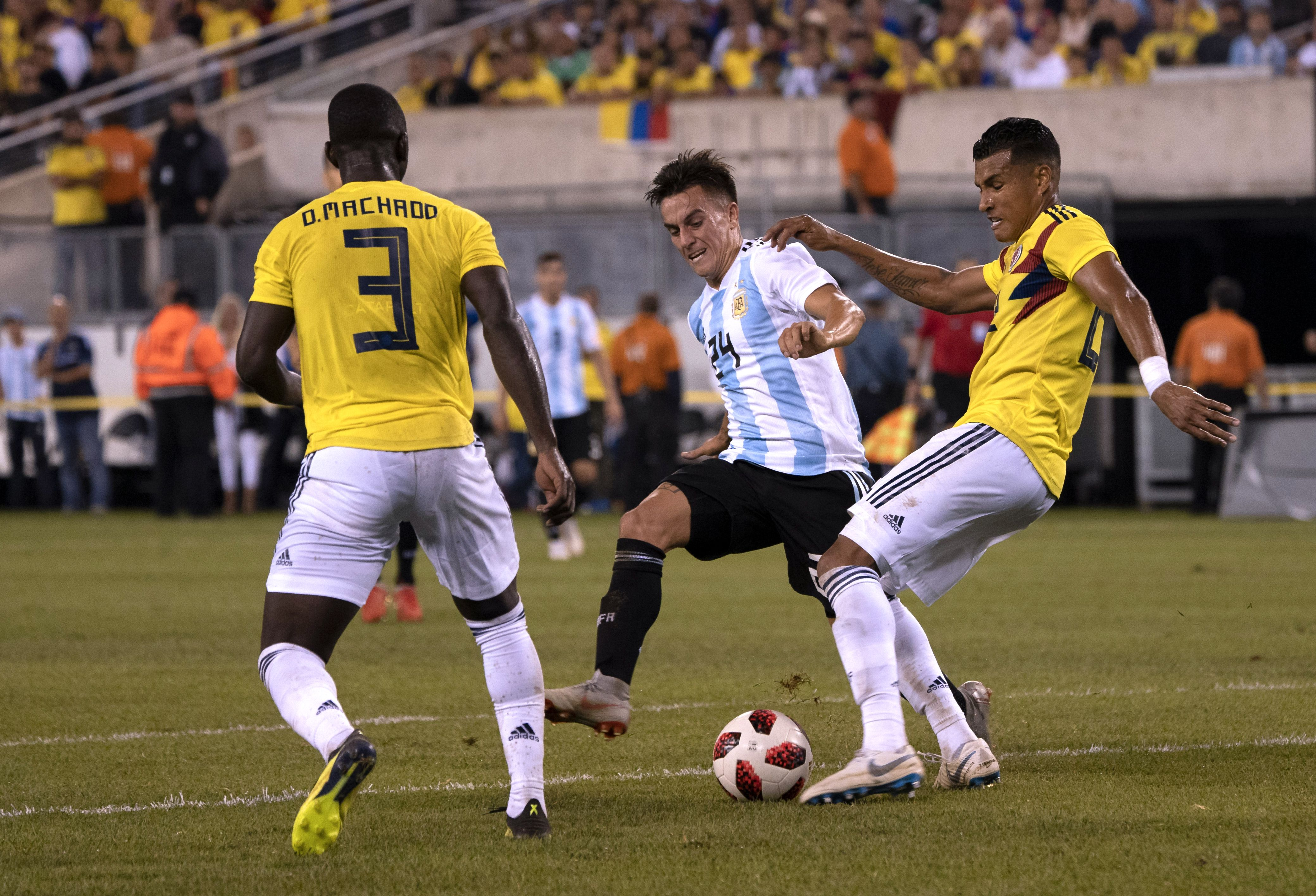 Deiver Machado, Jeison Murillo Colombia Argentina Amistoso 2018