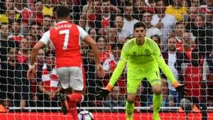 Alexis Sanchez Thibaut Courtois Arsenal Chelsea