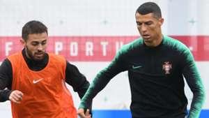 Bernardo Silva Cristiano Ronaldo Portugal treino 13 06 2018