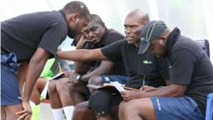 Frank Ouna and Sammy Omollo of KCB.