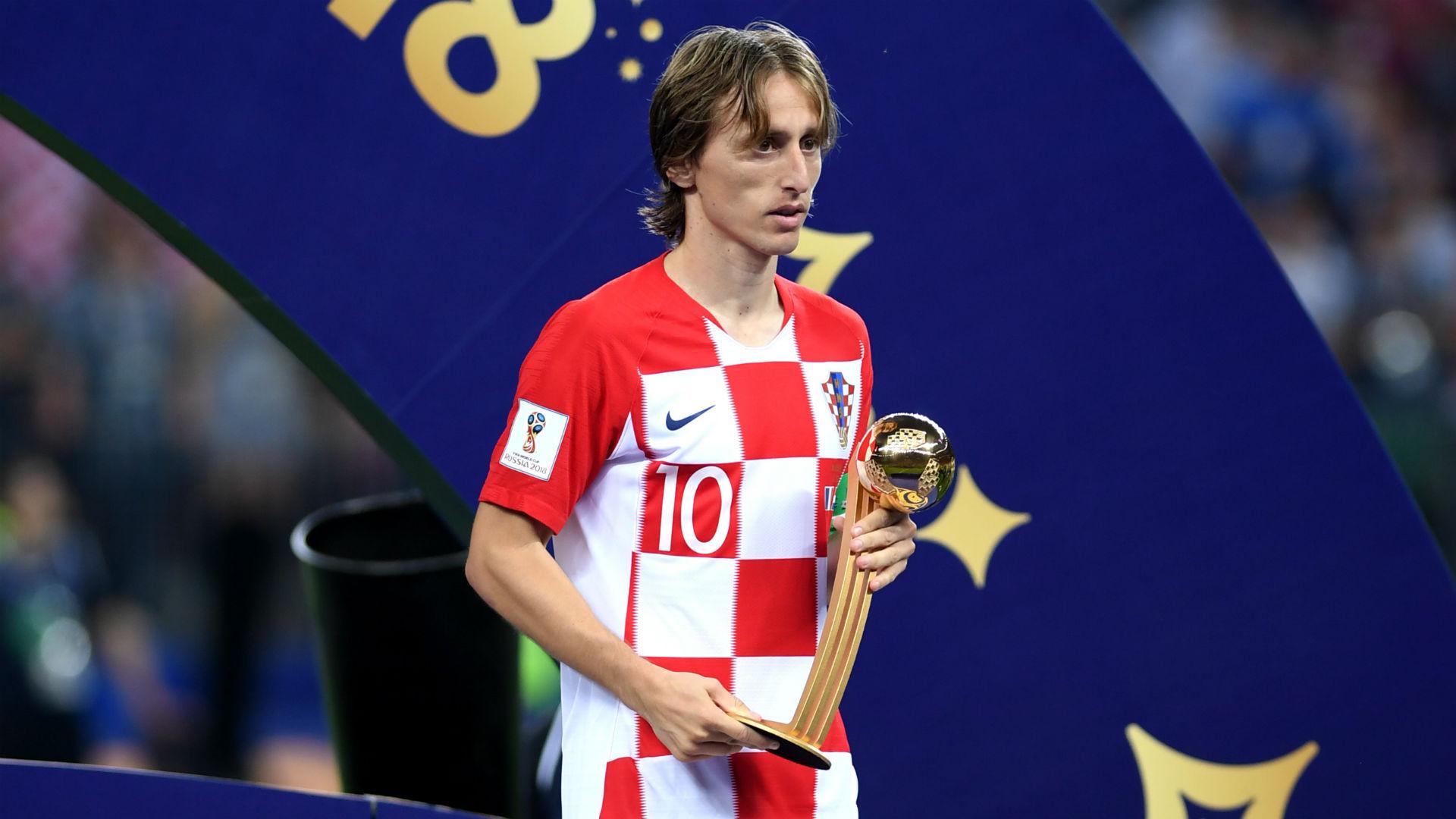 لوكا مودريتش الكرة الذهبية لكأس العالم