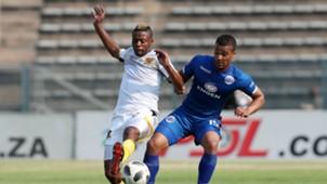 Pentjie Zulu, Black Leopards & Fagrie Lakay, SuperSport United, September 2018
