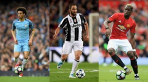leroy sane gonzalo higuain paul pogba manchester city juventus turin manchester united