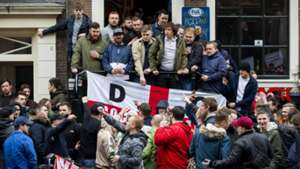 England fans in Amsterdam