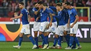 Italy celebrates against Poland Nations League