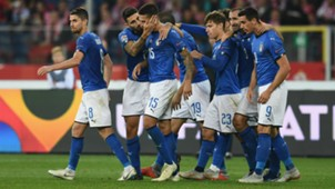 Italy celebrates against Poland Nations League