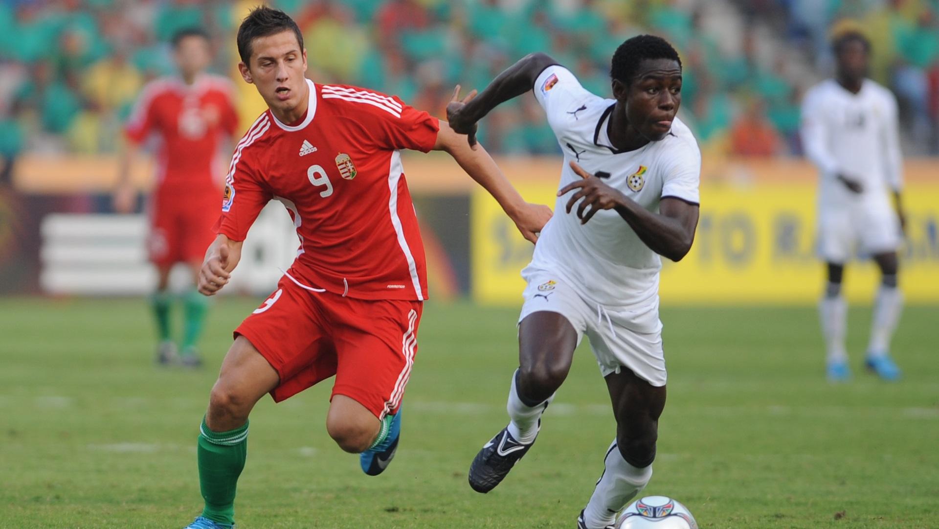 Kristian Nemeth of Hungary, Ghana's Daniel Addo