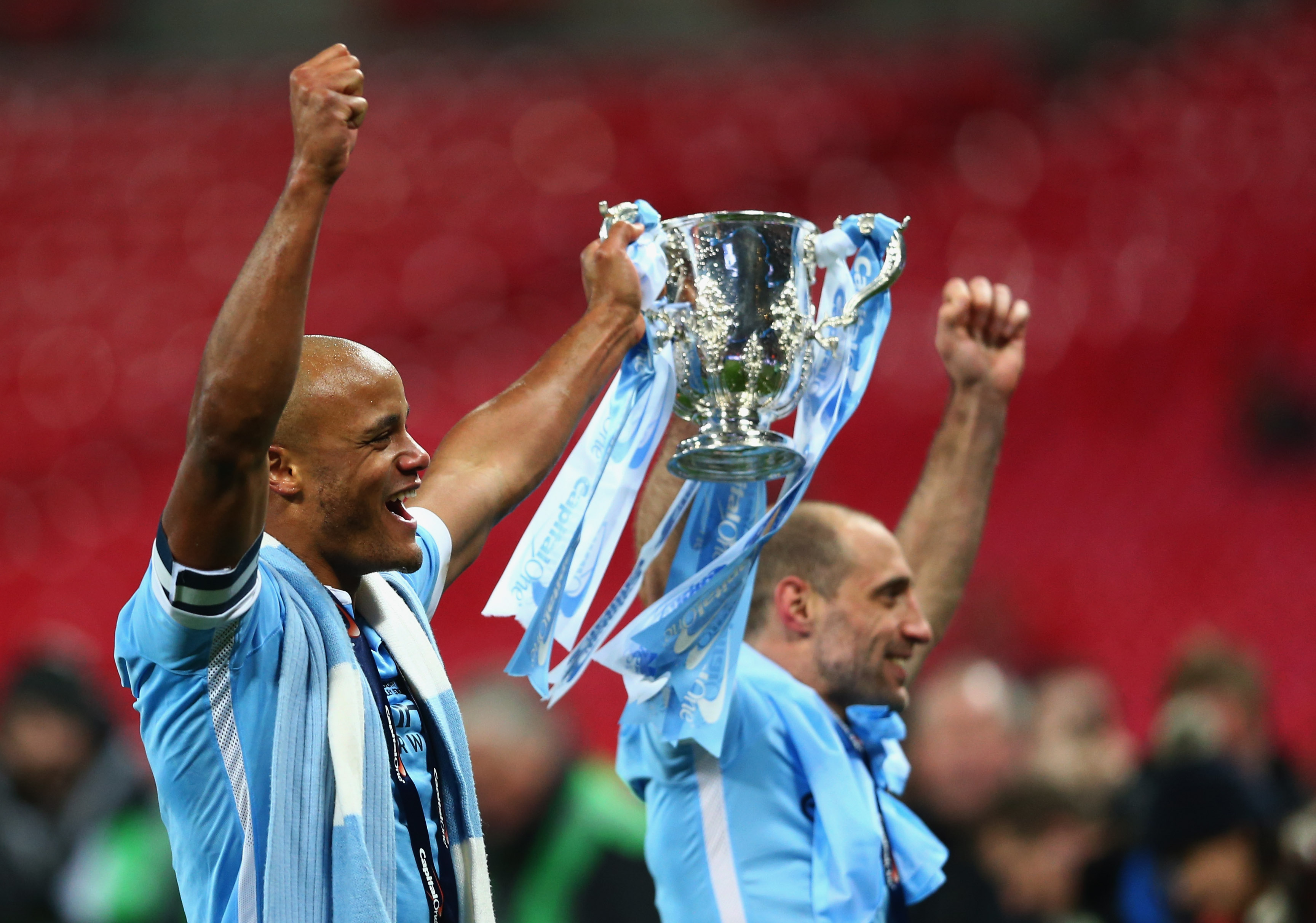 Pablo Zabaleta Vincent Kompany Manchester City