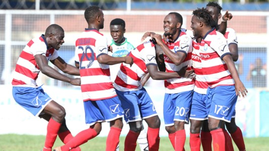 AFC Leopards players celebrates Isuza goal