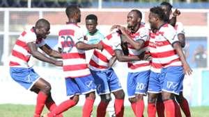 AFC Leopards players celebrates Isuza goal