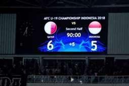 Qatar U19 v Indonesia U19, AFC Championship U19, 21102018