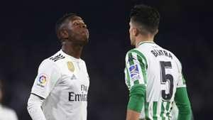 Vinicius Junior Marc Bartra Real Madrid Real Betis 2018-19