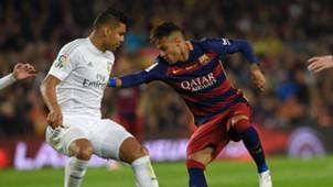 Neymar FC Barcelona Casemiro Real Madrid