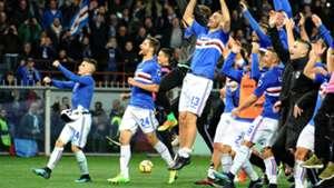 Sampdoria celebrating Serie A