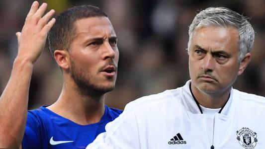 Eden Hazard Jose Mourinho Chelsea Man Utd 2018