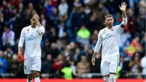 Raphaël Varane Sergio Ramos Real Madrid 17112018/