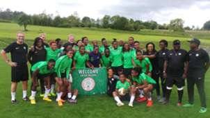 Super Falcons hold first training in Austria
