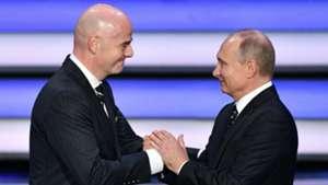 Vladimir Putin Gianni Infantino FIFA World Cup 2018 draw