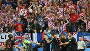 croatia england - celebration fans - world cup - 11072018