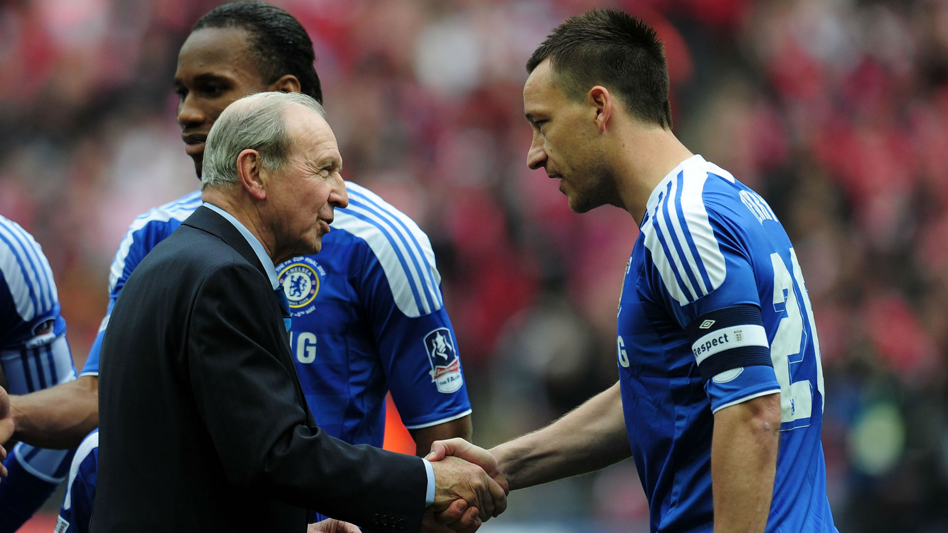 Jimmy Armfield John Terry Chelsea 2012