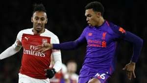 Pierre-Emerick Aubameyang Trent Alexander-Arnold Arsenal Liverpool 2018-19