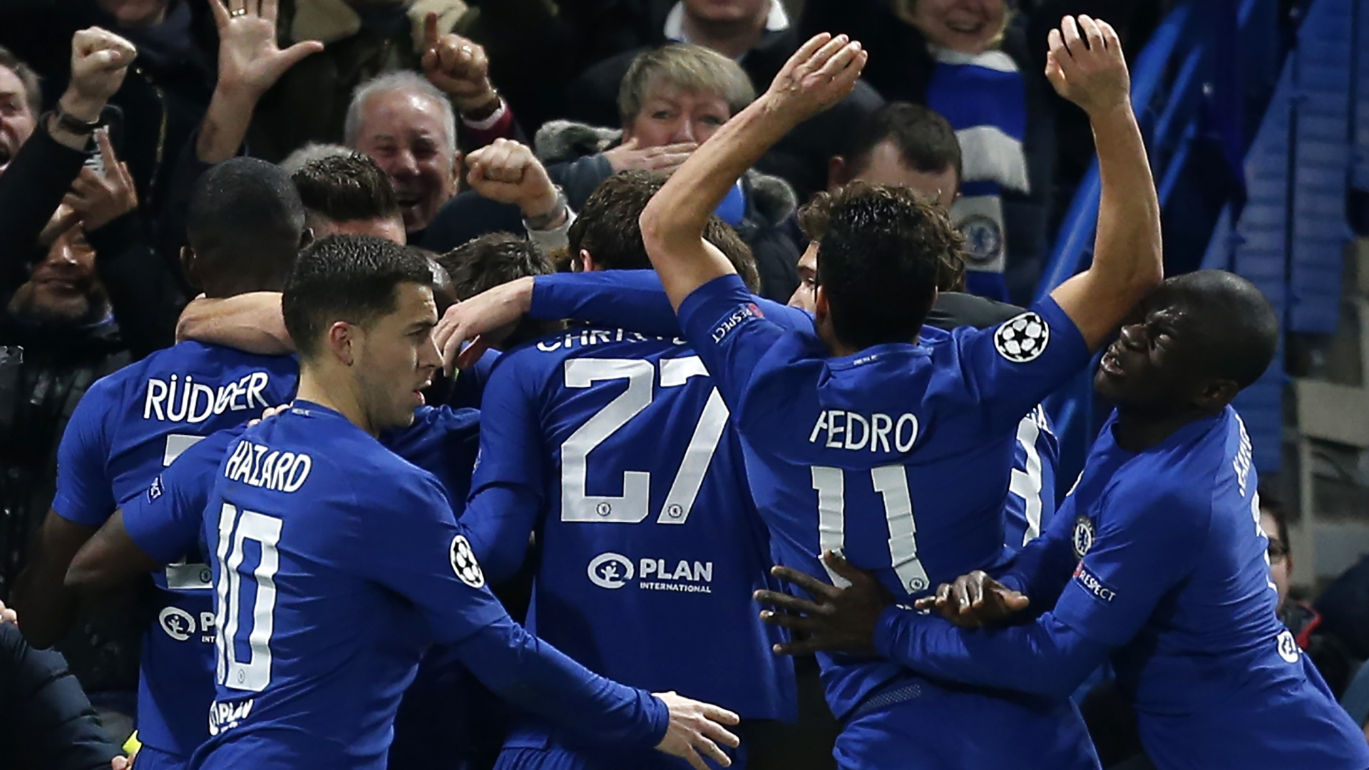 Chelsea celebrate vs Barcelona