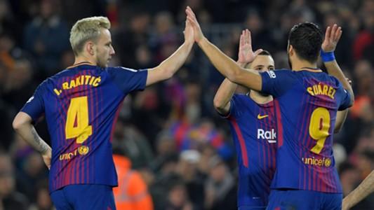 FC Barcelona Jordi Alaba Ivan Rakitic Luis Suarez 24022018
